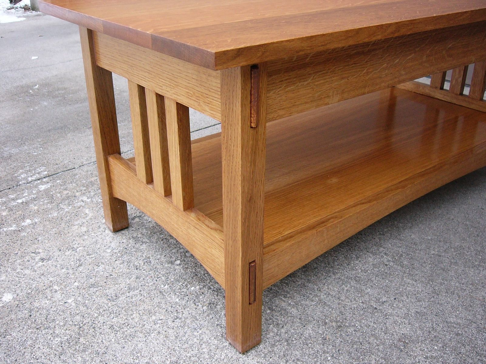 Handmade quartersawn oak mission style coffee table and end table handmade quartersawn oak mission style coffee table and end table by daves quality furniture custommade geotapseo Choice Image