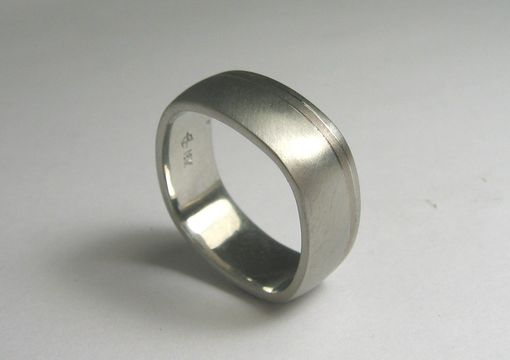 Custom Made Square-Shaped Wedding Band For Men