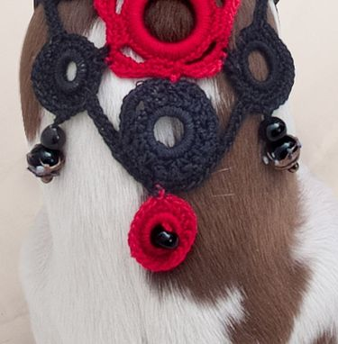 Custom Made Cotton Lace And Beads Work Body Accessory For Doggie