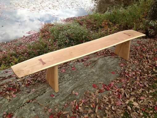 Custom Made '' Autumn Wind ''   Live- Edge Cherry Bench
