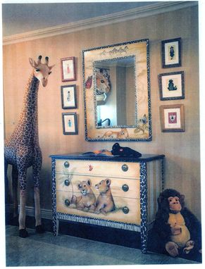 Custom Made Hand Painted Mural And Furniture For Safari Loving Kids