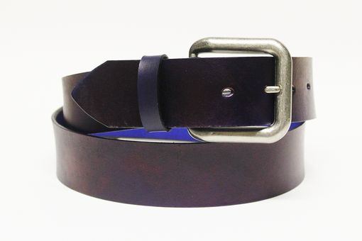 Custom Made Rugged Brown Leather Belt Custom Sized For Men And Women
