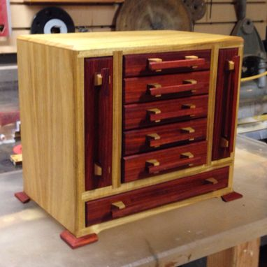 Custom Made Padauk And Canarywood Jewelry Box