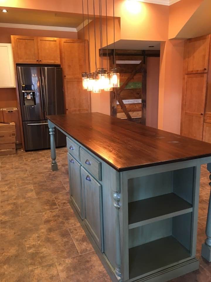Hand Made Kitchen Island With Seating By Worthys Run Furniture