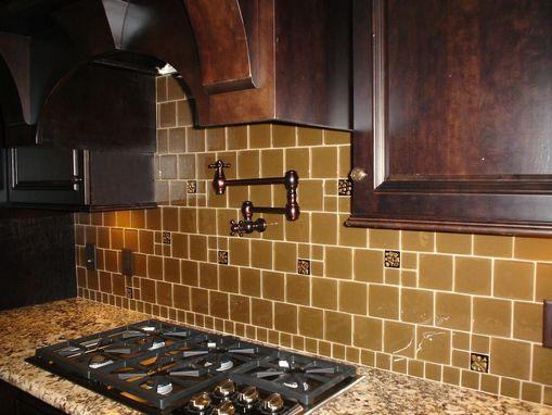 "Custom Made ""Gold Rush"" Custom Backsplash, Hilton Head Sc"