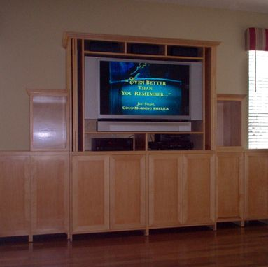 Custom Made Step Up Entertainment Cabinet