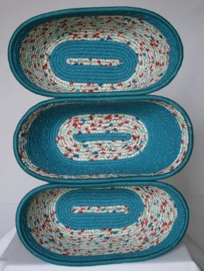 Custom Made Fabric Bowls - Set Of 3 Connected - Serving - Picnic Ware - Gift For Her