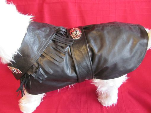 Custom Made Biker Buddy Leather Dog Clothes