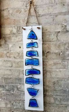 Custom Made Fused Glass Fish Wall Hanging