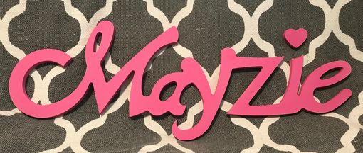 Custom Made Wood Name Sign