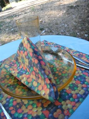 "Custom Made Table Settings - ""Balloon Fabric"
