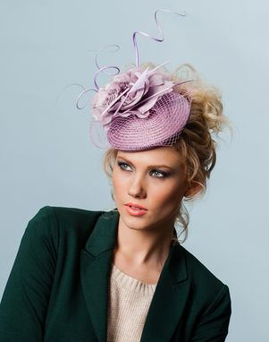 Custom Made Lilac Straw Fascinator