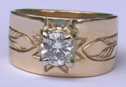 Custom Made Micmaq Star And Diamond Rings
