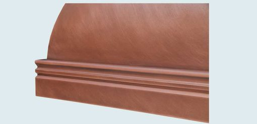 Custom Made Copper Range Hood With Mont St. Michel Band