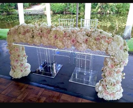 Buy A Custom Made Acrylic Bridal Table Clear Slab Top