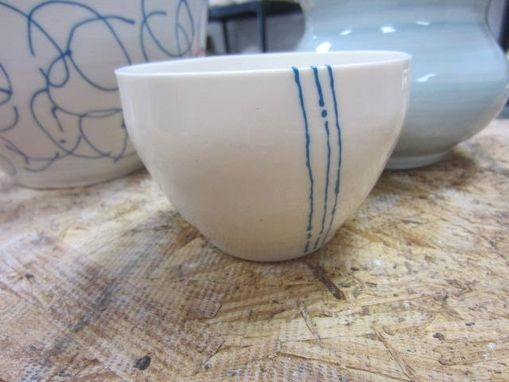 Custom Made Spring Rain Porcelain Cup And Bowl Set