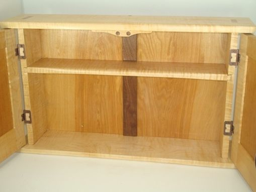 Custom Made Tiger Maple & Medicine Cabinet