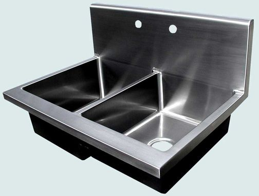 Custom Made Stainless Sink With Integral Backsplash