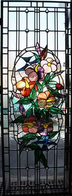 Custom Made Hummingbirds Stained Glass Panel