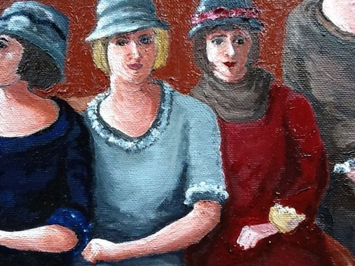Custom Made Twenties Flappers Oil Painting