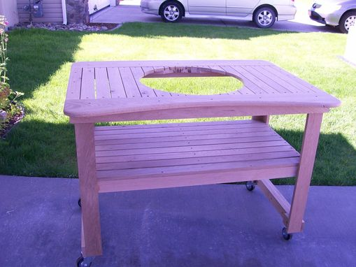 Custom Made Oak Barbeque Cart