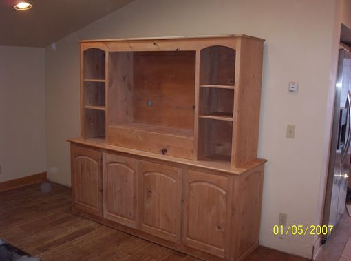 Custom Made Solid Knotty Alder Entertainment Canter