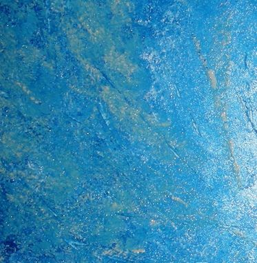 Custom Made Original Painting, Contemporary Seascape, Abstract Blue Hurricane, White Textured Art
