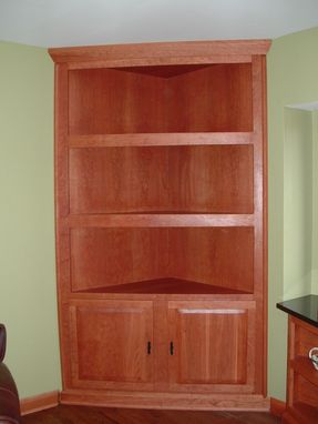 Custom Made Cherry Built In Cabinets