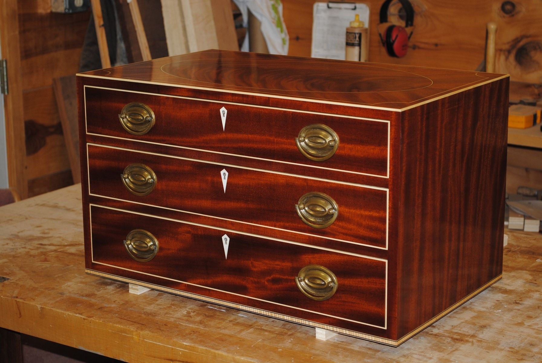 Custom Federal Style Silver Chest By Piscataqua Design