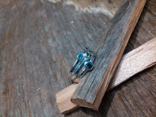 Custom Made Sterling Silver And Sapphire Ring