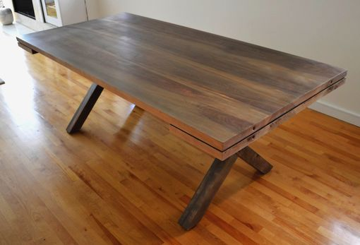 Custom Made X Base Dining Table With Extensions