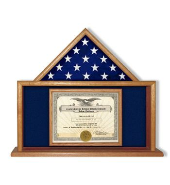 Custom Made Air Force Flag Certificate Display Case, Usaf Certificate Frame