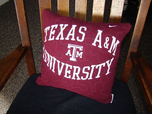 Custom Made Quilted Tshirt Pillow