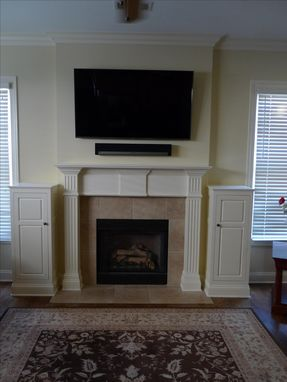Custom Made Fireplace Mantle With Storage