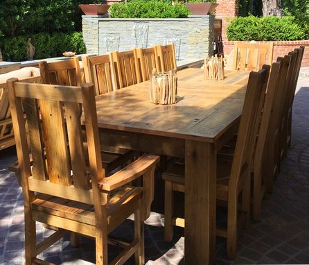 Custom Made Reclaimed Barn Wood Dining Table And Chairs