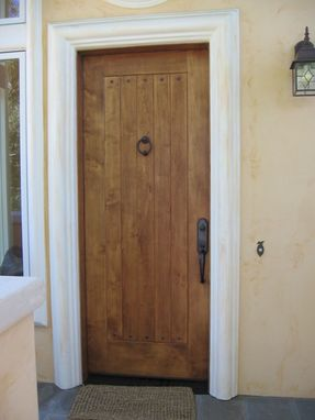 Custom Made Custom Wooden Door #1