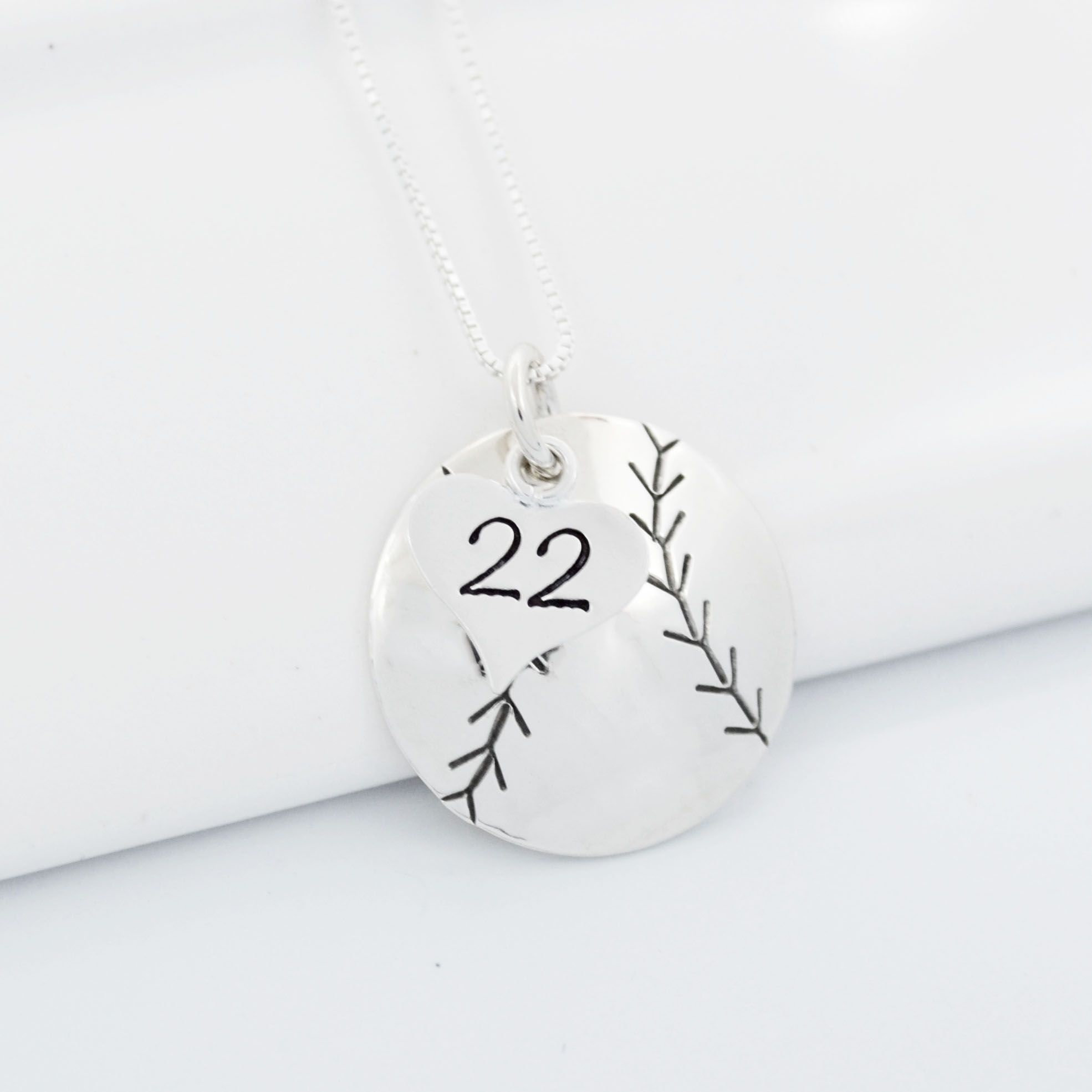 necklace pendant mom il number on both s that baseball now and custom childrens sides sided double personalized fullxfull personal name products your