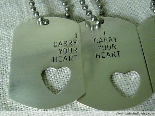 Custom Made Dog Tag And Heart Ring