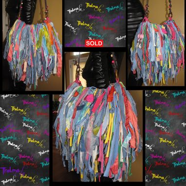 Custom Made Handmade Fringe Handbag,Upcycled Purse,Custom Made Fringe Purse,Mixed Colors