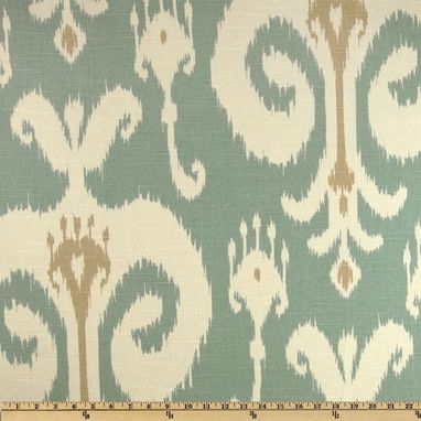 Custom Made 90l X 50w Home Accents Himalaya Ikat Robin's Egg Blue Linen Custom Curtain Panels