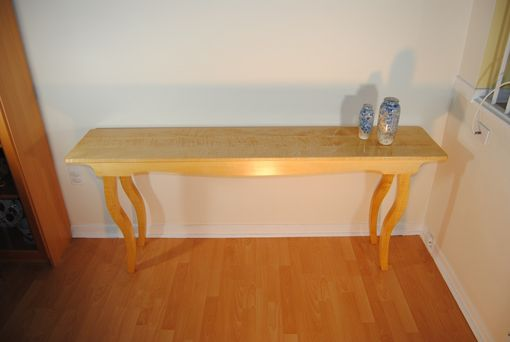 Custom Made Sofa Table - Curly Maple