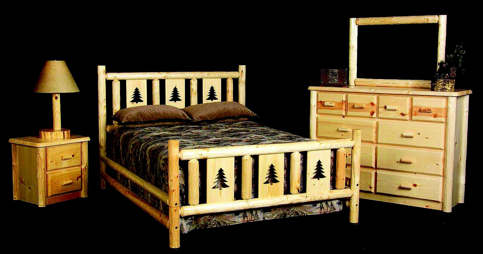 custom made montana log bed frame