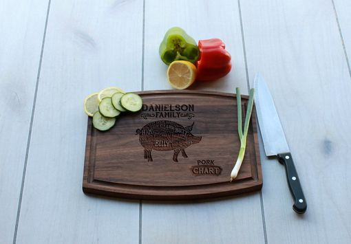 Custom Made Personalized Cutting Board, Cutting Board, Wedding Gift – Cba-Wal-Danielson Family Pork Char