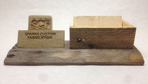 Custom Made Rustic Business Card Holder