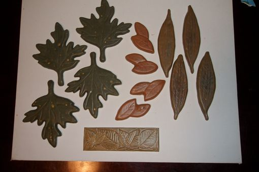 Custom Made Leaf  Motif Tiles