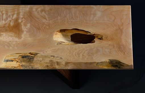 Custom Made Holey Maple Console Table