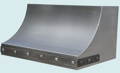 Custom Made Stainless Range Hood With Steel Strap