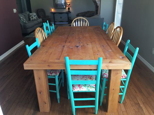Custom Made Dinning Table, Rustic, Distressed, Knotty Alder,