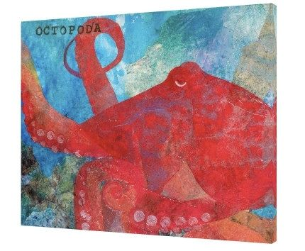 Custom Made The Scientific Octopus - Mixed Media Giclee From The Sea Of Serenity Series