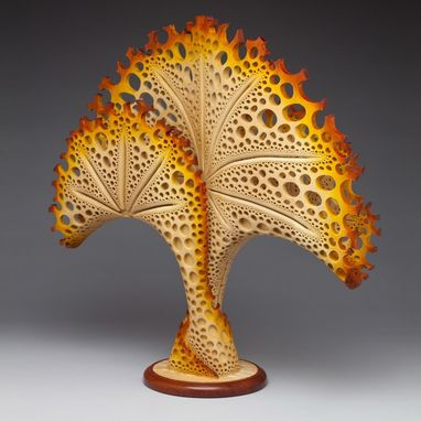 "Custom Made Free-Standing Wood Sculpture ""Coral Reef"""